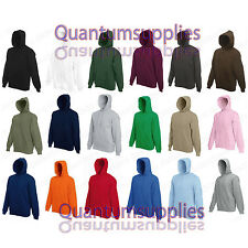 Fruit of the Loom Sudadera Con Capucha - Liso Jersey S M L Xl Xxl