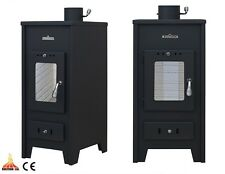 Wood Burning Stove Dry /Boiler Central Heating Option 9 kW Solid Fuel Wood/Coal