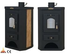 Wood Burning Stove Dry /Boiler Central Heating Option 10 kW Solid Fuel Wood/Coal