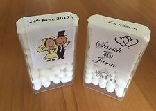 Personalised Tic Tac labels / Stickers Wedding Favours, Birthdays, Baby Shower,