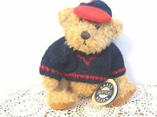 BRASS BUTTON BEAR COLLECTION 1996 TULLY NAVY KNIT SWEATER & HAT 11