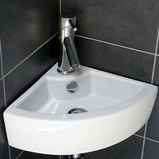 Modern Corner Ceramic Cloakroom Basin Hand Wash Wall Hung Bathroom Sink