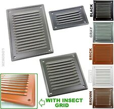 Metal Louvre Air Vent Grille Cover Metal Duct Ventilation White Brown Black Gray