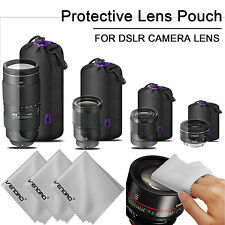 Neoprene Pouch DSLR Camera Lens Double Protector Bag Soft Case Set Waterproof