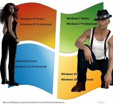 Product Key For Windows XP 7 8 10 Home Professional 32/64 Bits OEM Download
