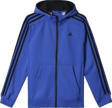 ADIDAS BOYS ESSENTIAL 3 STRIPE FULL ZIP HOODIE TRACKSUIT TRACK TOP 9-10Y *BNWT*