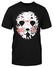 Crystal Lake Camiseta T-Shirt Horror Vintage Michael Freddy Camiseta Divertida