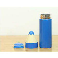 pencil shaped flask stainless steel red blue thermos tea coffee airtight gift