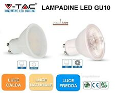LAMPADINA LED V-TAC GU10 MR16 GU5.3 DA 2W A 7W 3000 4000 6000 ALTA LUMINOSITA'