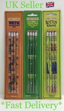 Horrible Histories 4 Piece Pencil Stationery Set Rotten Romans Frightful Woeful