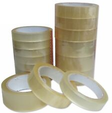"""Clear Tape Strong Rolls Packaging Parcel Packing Sellotape1"""" 24mm x50m Cellotape"""