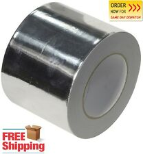 Aluminium Foil Tape Self Adhesive 72mm x 50m Heat Insulation Duct Rolls