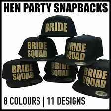 Bride Squad Snapback Caps Hats Bride Tribe To Be Team Crew Hen Night Party Gold