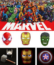 Super Hero Avengers Hulk Thor Captain America Spiderman & Iron Man LED Mask
