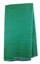 Sea Green Chanderi Fabric by Meter Gold Jaquard Embroidery Dress Material Kurti