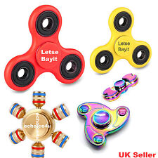 Fidget Finger Spinner Hand Focus Ultimate Spin Steel EDC Bearing Stress Toys UK.