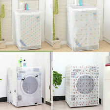 1X Floral Waterproof Washing Machine/Refrigerator Dust Cover Protection Durable