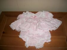 PREEMEE LITTLE PRECIOUS FOR DOLLS PINK DRESS WITH LACE AND BLOOMERS