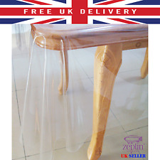 Clear Transparent PVC Tablecloth Oil Vinly TABLE Protector Cover WipeClean Sheet
