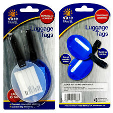Sure Travel Durable Heavy Duty Plastic Luggage Suitcase Travel ID Label Tags