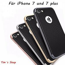 iPhone 7 / 7 Plus Handy Hülle Cover Case Schutzhülle Bumber Tasche Carbon Apple