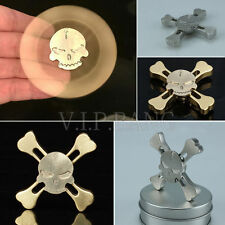 Skull Alloy Hand Spinner Tri Fidget Focus Toy EDC Finger Spin Gyro ADHD Autism D