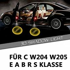 Auto LED Projektor Tür Lampe Ghost Shadow Welcome Light Laser Logo f. Benz C/E/S