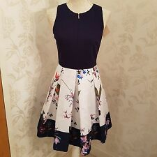 ted baker petali dress sz 2 3 UK size 10 12 bnwt no offers rrp 179