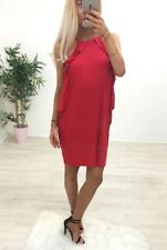 Red Tie Shoulder Frill Dress - Little Red Dress - Handkerchief Style FREE P&P!!!