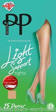 Ladies Womens 15 Denier Light Support Tights By Pretty Polly UK Size S-M M-L XL