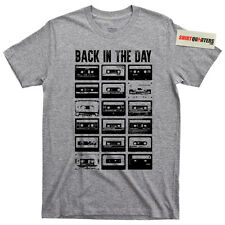 Back in the Day Old School Skool mixtape mix cassette tape boombox tee T Shirt