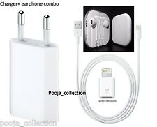 100%Genuine Charger for Apple iPhone+ 3.5mm jack earphone+ micro 8 pin adaptor