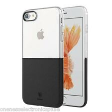 Top Quality Ultra Thin Soft and Hard Case for iPhone 6 6S 7 Transparent Black