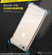 New Luxury Thin Silicone Case with Bubble Side Corner  for iPhone 5S and 6 6S