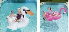 Bestway Inflatable Giant Supersized Flamingo/Swan Rider Float Pool Pink/White