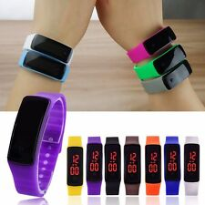 LED Digital Screen Wrist Watch For Men Women Unisex School Boys Girls Kids UK