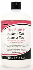 SUPERNAIL PURE ACETONE NAIL POLISH ACRYLIC GEL WRAP REMOVER (CHOOSE SIZE)