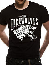 Official - GAME OF THRONES - DIREWOLVES unisex T Shirt Season 7 Face POSTER tee