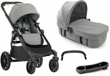 Baby Jogger City Select Lux Stroller SLATE with Bassinet Kit Pram System Travel