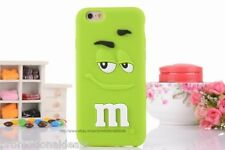 Green Cute Rainbow bean 3D M Case Cover For iPhone 6 (4.7inch & 6 Plus (5.5 inch