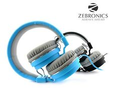 Zebronics STORM Wired Headset Headphone 3.5mm w/ Mic | Soft Padded Cup over Ear