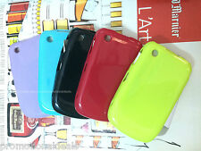 Shiny Silicon Soft Back Cover Case For Blackberry Curve 8520