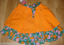 Nolita Pocket girl Evvia skirt orange summer 3-4 y  BNWT designer