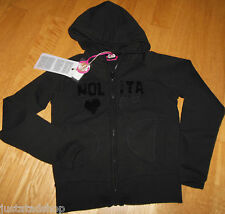 Nolita Pocket girl jacket cardigan hoodie  5-6 y BNWT black