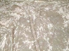 "IVORY CREAM - CRUSHED VELVET upholstery fabric material 320GSM - 56"" width"
