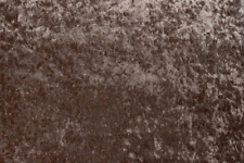 "BROWN CRUSHED VELVET upholstery fabric material 320GSM - 56"" width"