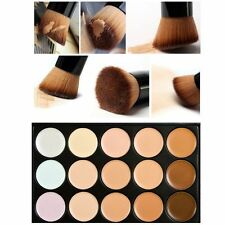 15 Colores Makeup Concealer Palette Set Cepillo Esponja Puff Face Contour Cream