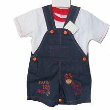 Baby Boys Short Dungaree Set