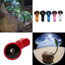Clip On Fish Eye Lens Wide 235 Angle Macro Camera Lens Kit For Phone Tablets LH
