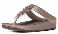 Fitflop Cha Cha Rose Gold Womens Leather Sandals Flip Flops